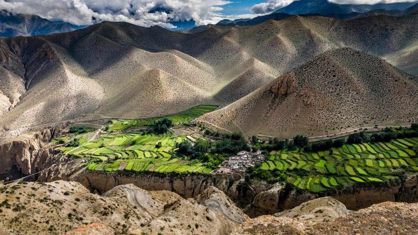 Die Ortschaft Ghyakar, Upper Mustang, Nepal