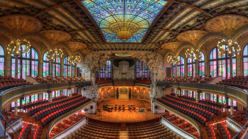 Palau de la Música Catalana, Barcelona, Spanien