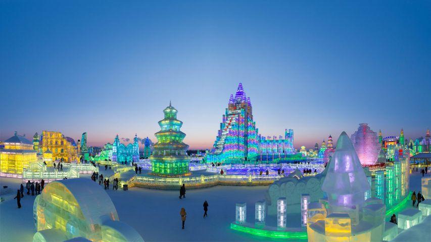Internationales Eis- und Schneefest in Harbin, China