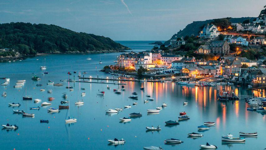 Hafen von Salcombe an der Südküste von Devon, England