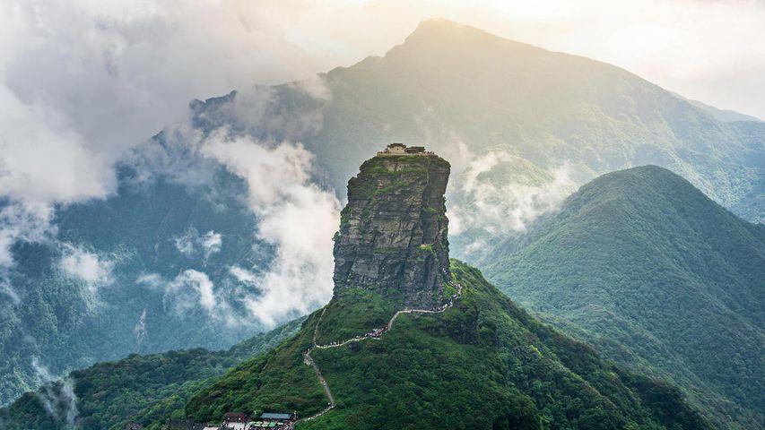 Der Fanjingshan, der höchste Berg des Wuling-Gebirges im Südwesten Chinas