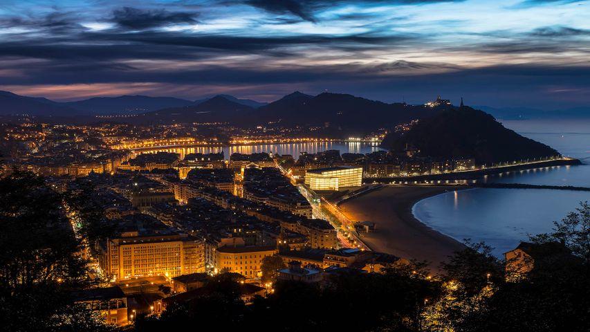 San Sebastián und der Kursaal, in dem das Filmfestival San Sebastián stattfindet