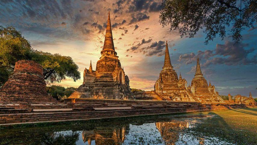 Wat Phra Si Sanphet, Geschichtspark Ayutthaya, UNESCO-Weltkulturerbe, Ayutthaya, Thailand