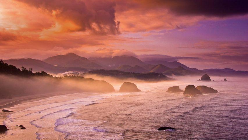 Lewis and Clark National and State Historical Parks in Oregon anlässlich des Jahrestages, an dem Lewis und Clark den Pazifik erreichten