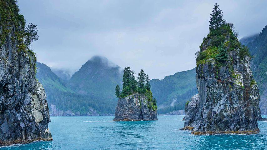 Bucht der Türme im Kenai-Fjords-Nationalpark, Alaska, USA