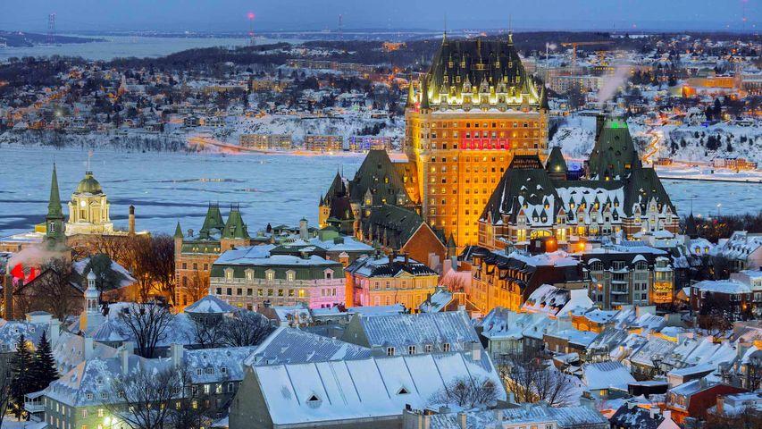 Blick auf die Altstadt Québecs, Kanada