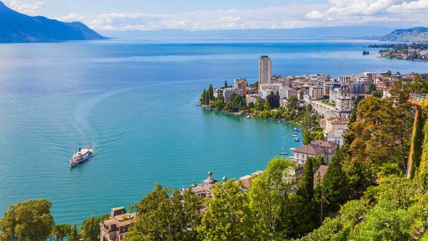 Montreux am Genfersee in der Schweiz