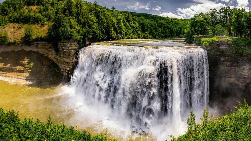Middle Falls-Wasserfall im Letchworth State Park, New York, USA