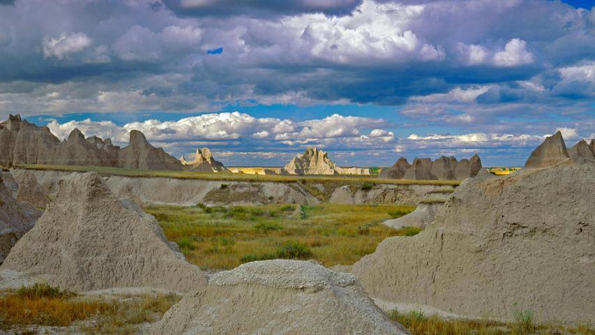 Castle Trail im Badlands-Nationalpark, South Dakota, USA