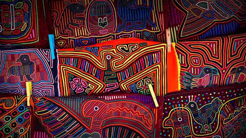 Traditionelle Molas des Kuna-Volks, San-Blas-Inseln, Panama