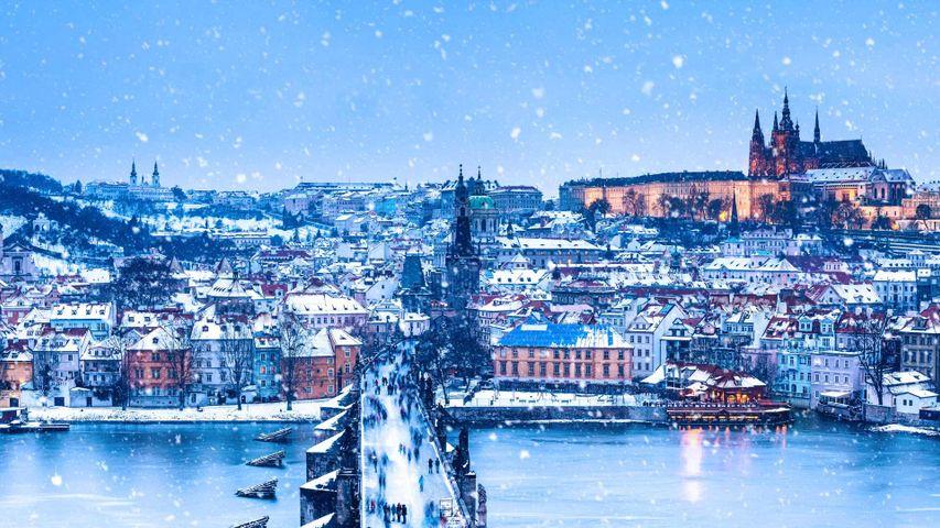 Die Karlsbrücke in Prag, Tschechien