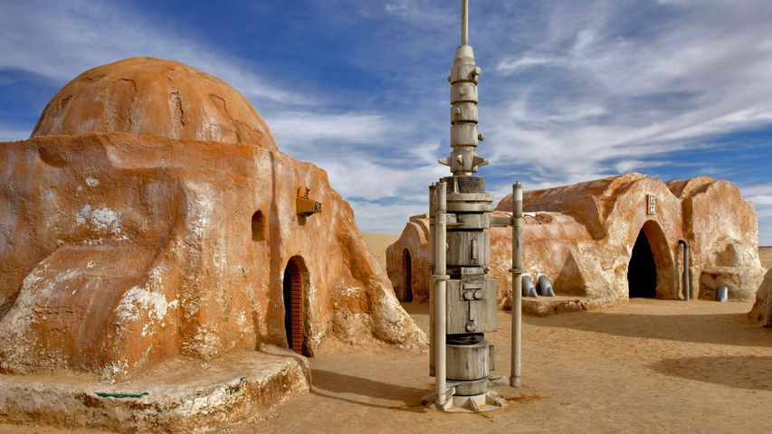 "Drehort der ""Star Wars""-Filme im Chott el Djerid, Tunesien"