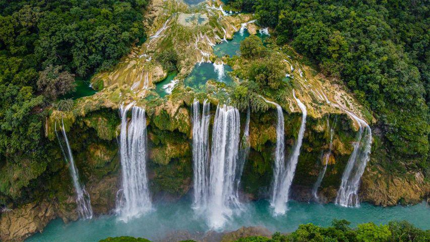Der Tamul-Wasserfall im Bundesstaat San Luis Potosí, Mexiko