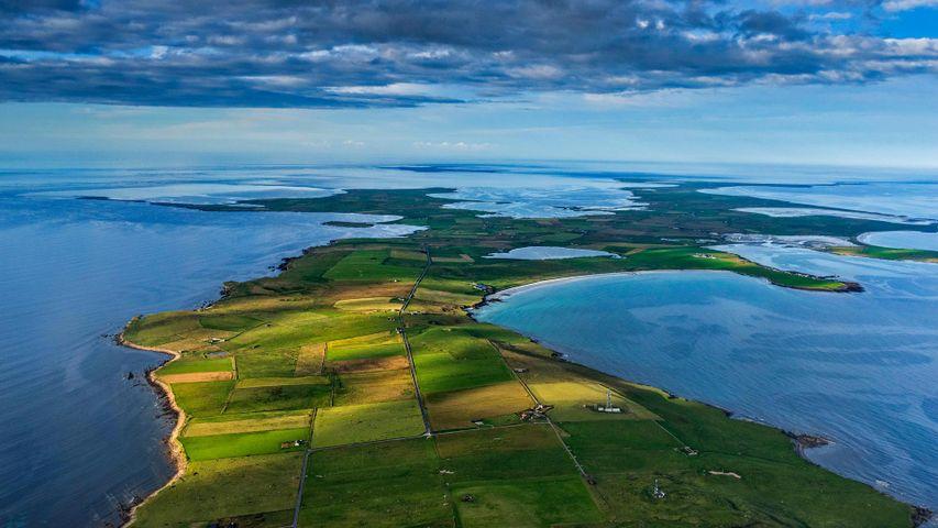 Die Insel Sanday in der Nordsee, Schottland