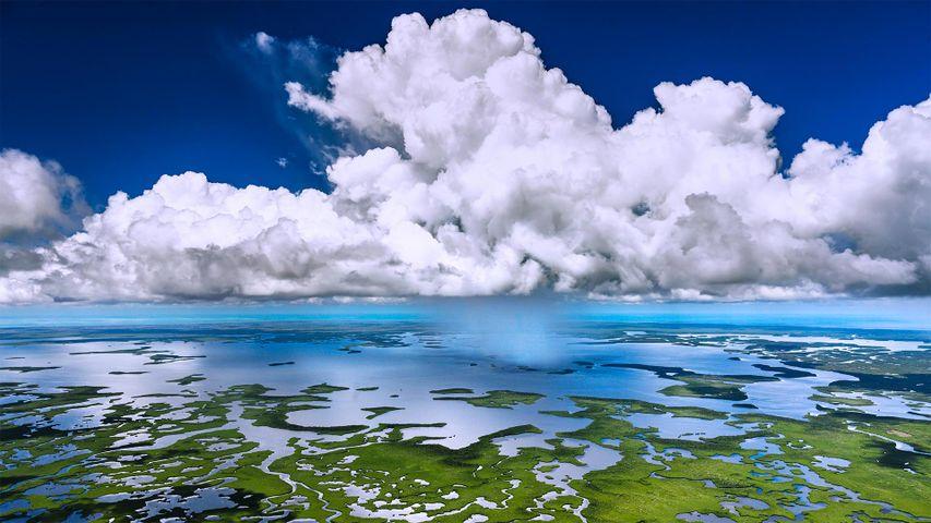 Luftaufnahme des Everglades-Nationalparks