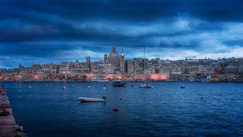 Valletta, Malta, eine der beiden Kulturhauptstädte Europas 2018