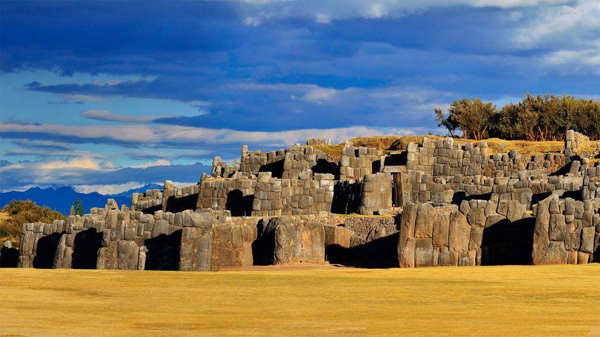 Inka-Festung Sacsayhuamán in der Nähe von Cusco, Peru
