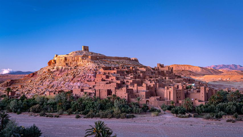 Aït Benhaddou am Fuße des Hohen Atlas, Marokko