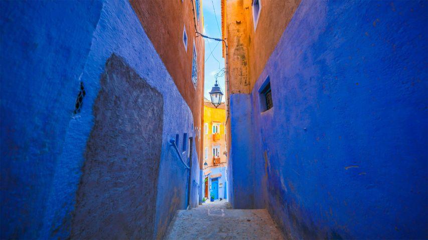 Die blauen Wände von Chefchaouen, Marokko
