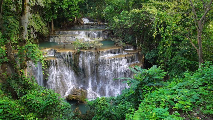 Huay-Mae-Khamin-Wasserfall im Khuean-Srinagarindra-Nationalpark, Thailand