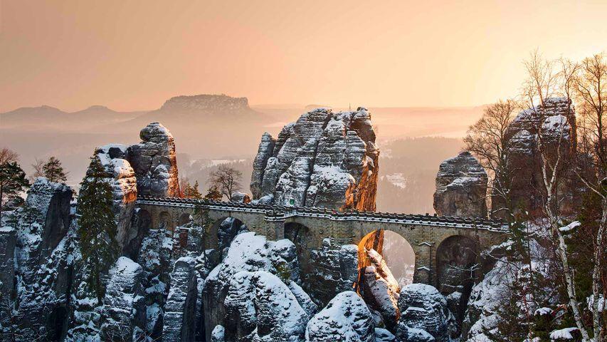 Basteibrücke im Nationalpark Sächsische Schweiz, Sachsen