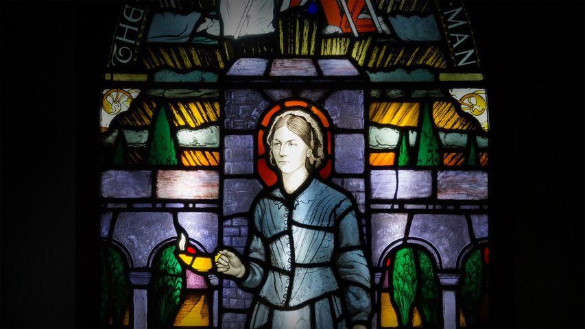 Bleiglasfenster im Florence Nightingale Museum, London, Vereinigtes Königreich
