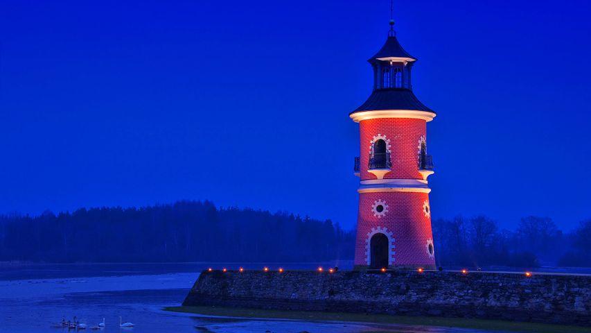 Leuchtturm in Moritzburg, Sachsen, Deutschland