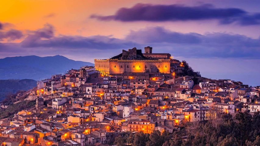 Montalbano Elicona, Messina, Sizilien, Italien