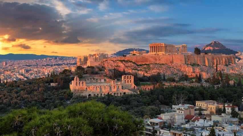 Der Parthenon-Tempel auf der Akropolis in Athen, Griechenland