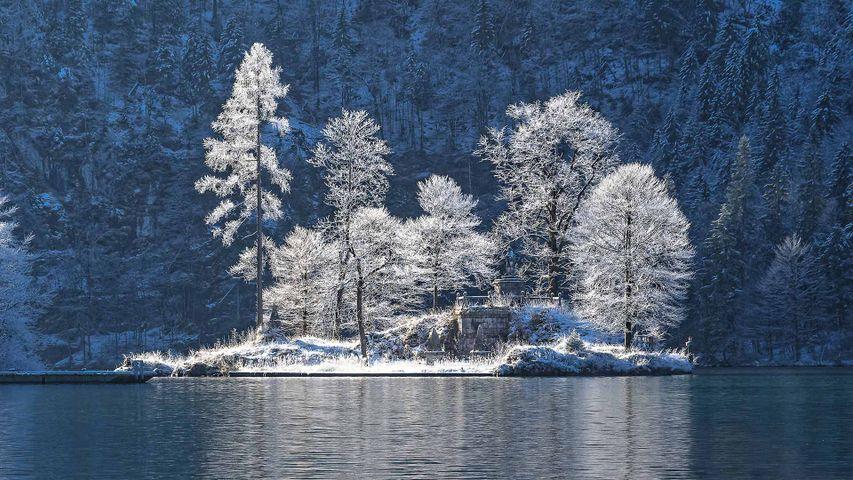 Die Insel Christlieger im Königssee, Bayern